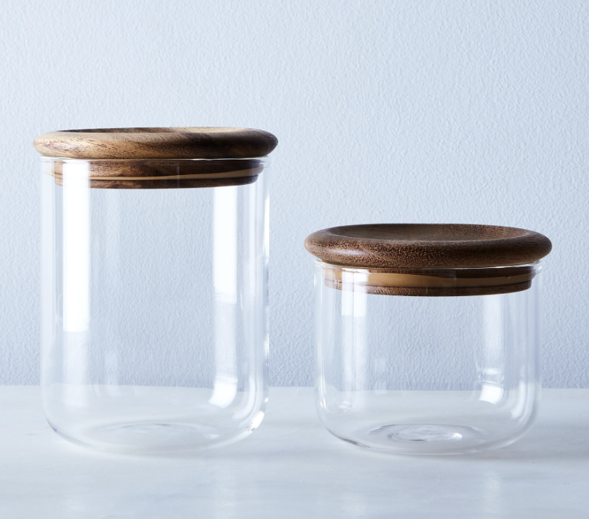 Glass & Wood Canisters