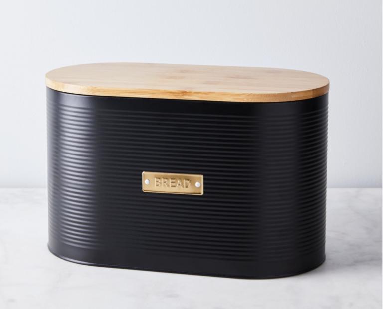 Black Steel Bread Bin kitchen design