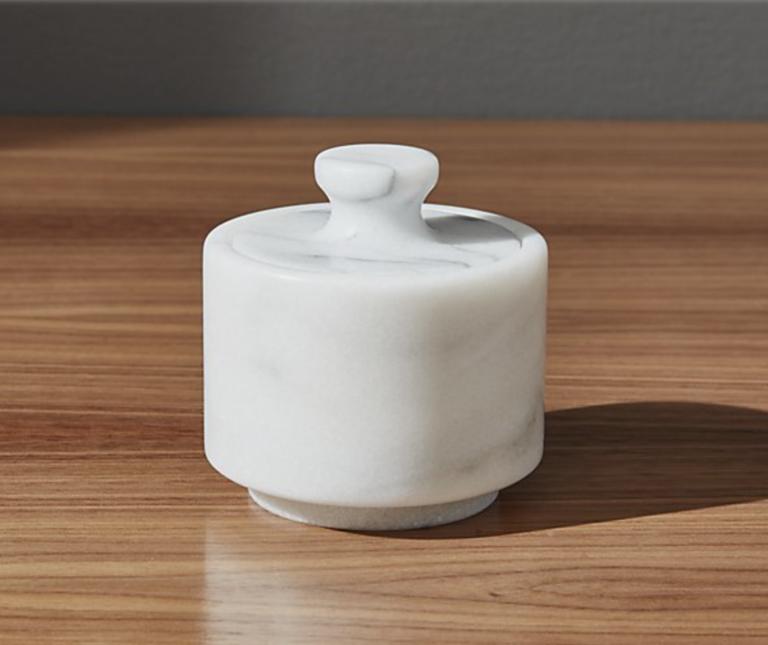 French Kitchen Marble Salt Cellar for kitchen design