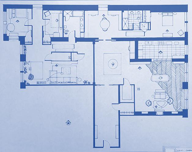 interior design blue print