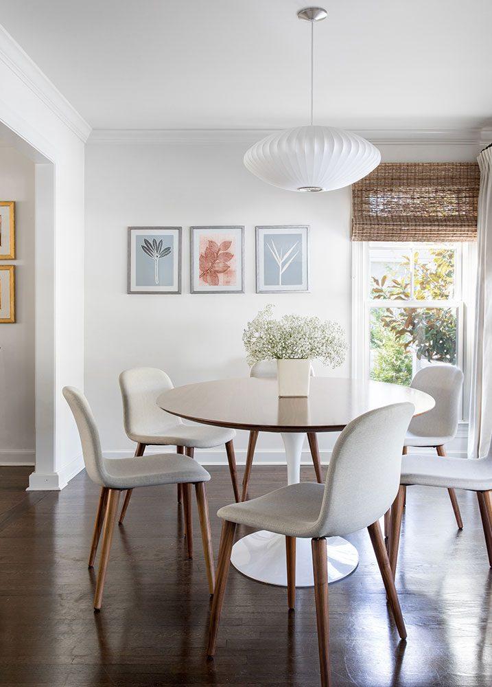 custom art dining room renovation